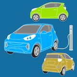 Kleines elektrisches Auto Lizenzfreies Stockfoto