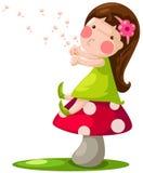 Kleines feenhaftes Mädchen Lizenzfreie Stockbilder