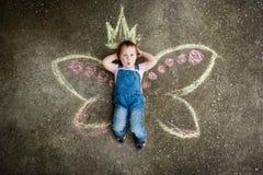Kleines feenhaftes Mädchen Stockfotografie