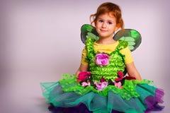 Kleines feenhaftes Mädchen Lizenzfreies Stockbild