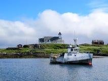 Kleines Fischerboot Stockfotos