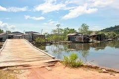 Kleines Fischerdorf in Insel Phu Quoc lizenzfreies stockfoto
