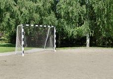 Kleines Fußballtor Stockbild