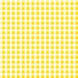 Kleines Gelb kopiertes Gewebe mit Kontrollen Stockbilder
