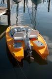Kleines gelbes Boot Stockbilder