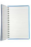 Kleines gewundenes Notizbuch Stockfoto