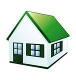 Kleines grünes Haus Lizenzfreie Stockfotos