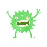 kleines grünes Monster der Retro- Karikatur Lizenzfreies Stockfoto