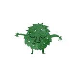 kleines grünes Monster der Retro- Karikatur Lizenzfreie Stockfotografie