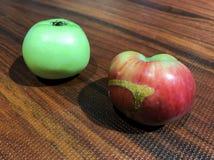 Kleines grenn und natürliche Äpfel lizenzfreies stockbild