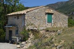 Kleines Gutshaus im Verdon Stockbild