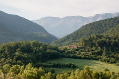 Kleines Haus in den spanischen Pyrenees Stockbild