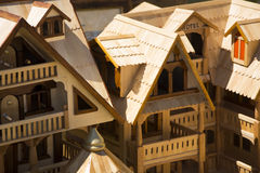 Kleines Haus des Holzes Stockbild