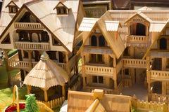 Kleines Haus des Holzes Stockfotos