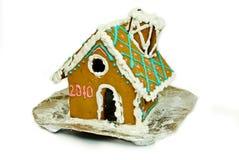Kleines Haus des Weihnachtslebkuchens Stockbild