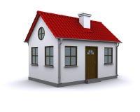 Kleines Haus mit rotem Dach Stockfoto