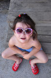 Kleines heikles Mädchen stockbild