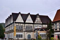 Kleines Hotel in der Landschaft, Sagaken, Japan Lizenzfreies Stockfoto