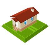 Kleines isometrisches Haus Stockbild