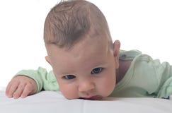 kleines Jungenkindlächeln Stockfoto
