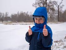 Kleines Jungenlächeln Lizenzfreies Stockfoto