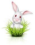 Kleines Kaninchen auf Gras stock abbildung