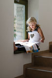 Kleines Kinderlesebroschüre Lizenzfreie Stockfotografie