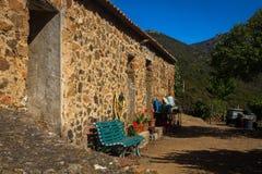 Kleines korsisches Dorf Girolata Lizenzfreie Stockfotografie