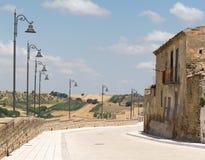 Kleines Land im südlichen von Italien Stockfotografie