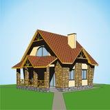 Kleines Landhaus Stockbild