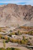 Kleines Leh-Dorf in Nord-Indien Lizenzfreies Stockfoto