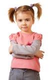 Kleines lustiges Mädchen Stockfotografie