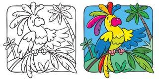 Kleines lustiges Papageienmalbuch Lizenzfreies Stockbild