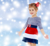 Kleines Mädchen überrascht Stockfoto