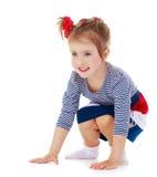 Kleines Mädchen überrascht Lizenzfreie Stockfotos