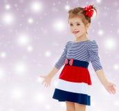 Kleines Mädchen überrascht Lizenzfreie Stockfotografie