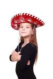 Kleines Mädchen als Cowboy Lizenzfreie Stockfotos