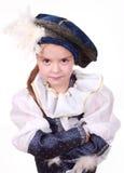 Kleines Mädchen als Prinz Stockfotos