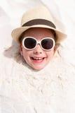 Kleines Mädchen auf Ferien Stockfoto