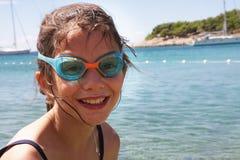 Kleines Mädchen auf Ferien Lizenzfreies Stockbild