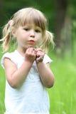 Kleines Mädchen auf Natur stockfoto
