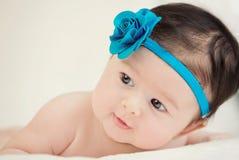 Baby, das lächelt Stockfotografie