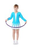 Kleines Mädchen, das der Gymnast ausübt Lizenzfreies Stockbild