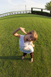 Kleines Mädchen, das doof ist Lizenzfreie Stockfotografie