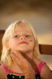 Mädchen-Gesichts-Malerei Lizenzfreies Stockfoto