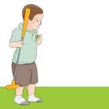 Kleines Mädchen, das Golf spielt Stockfotografie