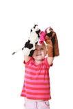 Kleines Mädchen, das Theater spielt Lizenzfreie Stockbilder