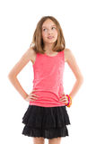 Kleines Mädchen, das weg schaut Stockfotografie