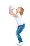 Kleines Mädchen in der Blue Jeans Stockfotografie