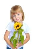 Kleines Mädchen in der Blue Jeans Lizenzfreie Stockfotografie